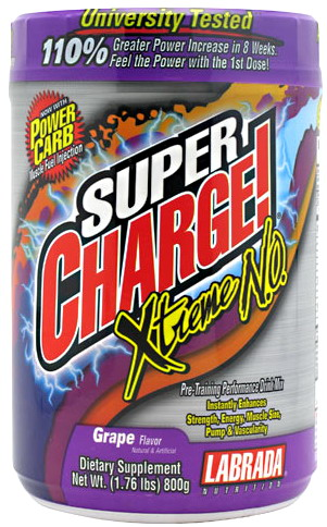 ( Labrada nutrition )	 Super Charge Xtreme NO